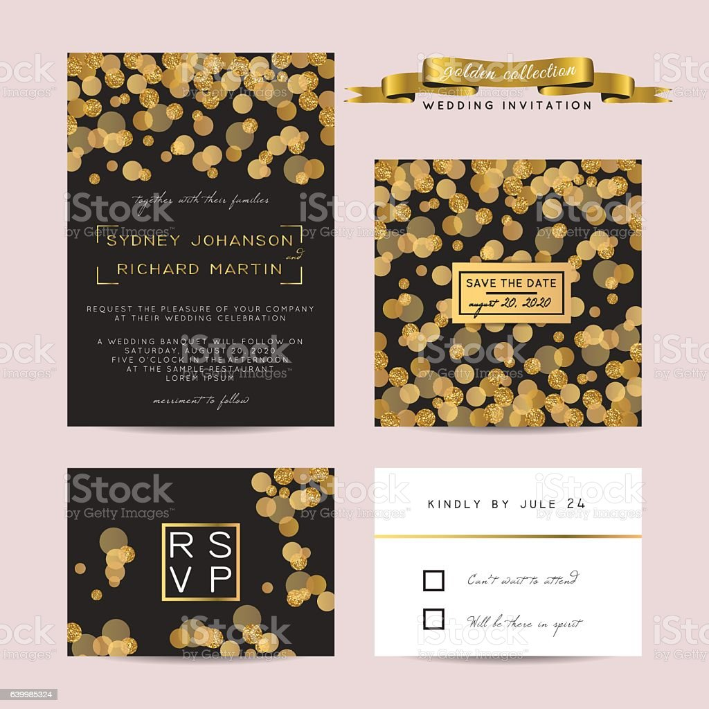 glitter invitation vector art illustration