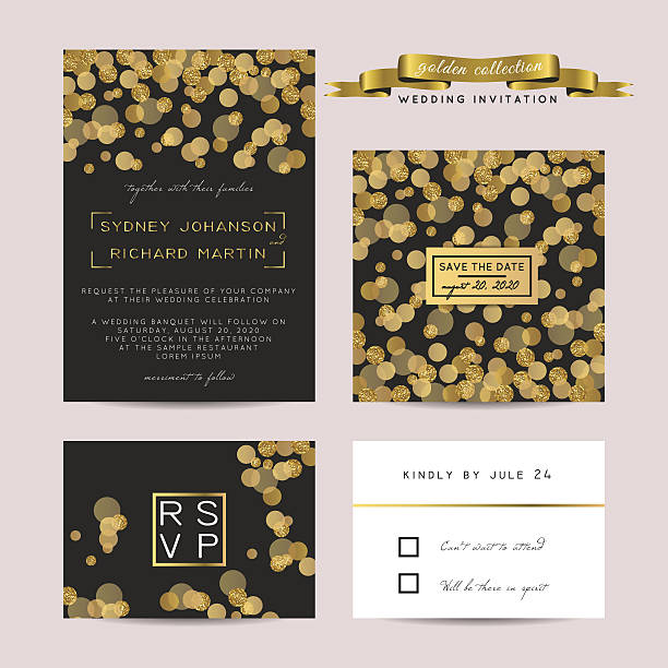 glitter invitation vector art illustration
