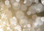キラキラ ライト波多重の金背景をぼかした写真