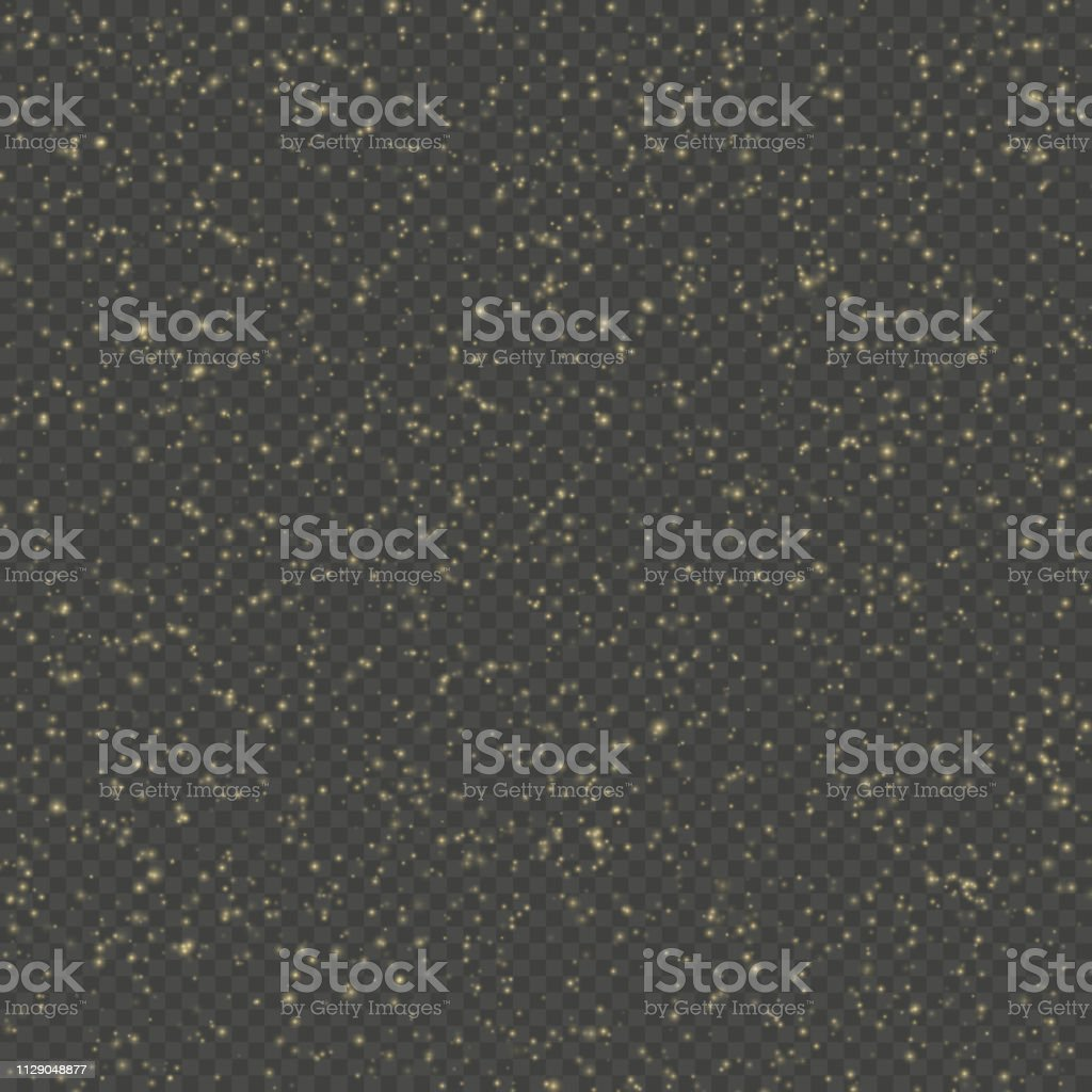 Glitter particles overlay effect. Gold glittering star dust sparkling...