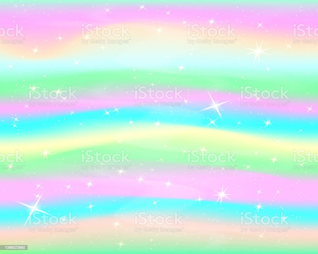 Glitter Rainbow Background The Sky In Pastel Color Bright ...