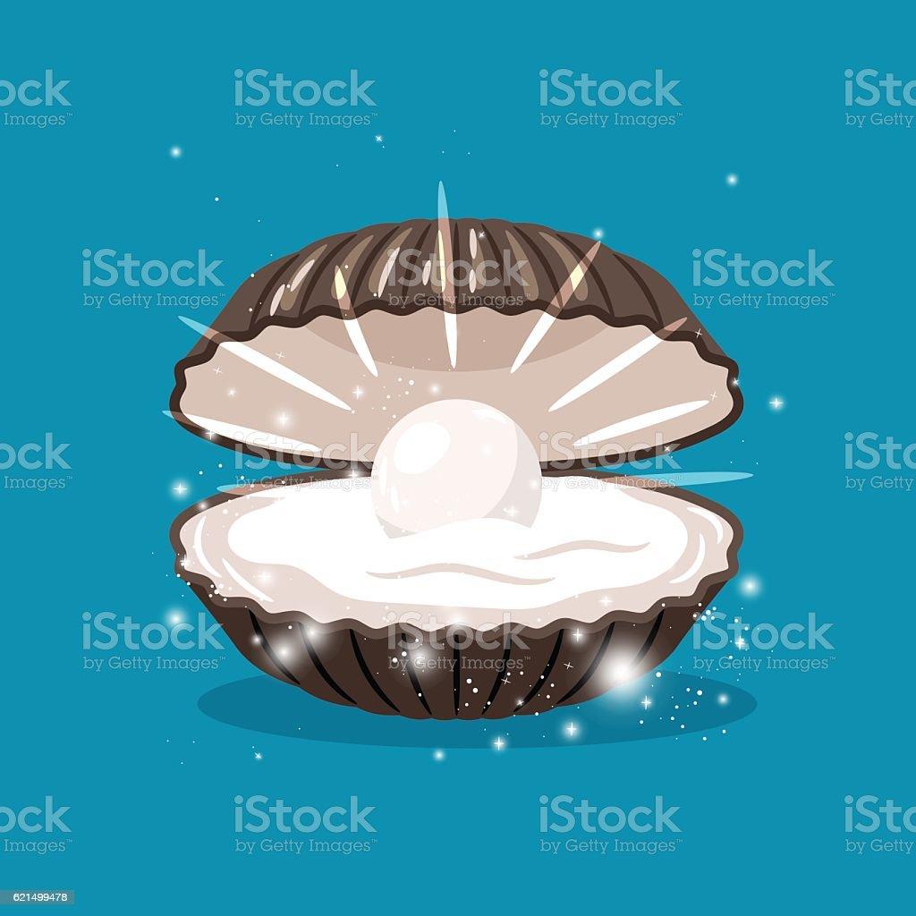 Glitter shell with pearl inside glitter shell with pearl inside - immagini vettoriali stock e altre immagini di accessibilità royalty-free