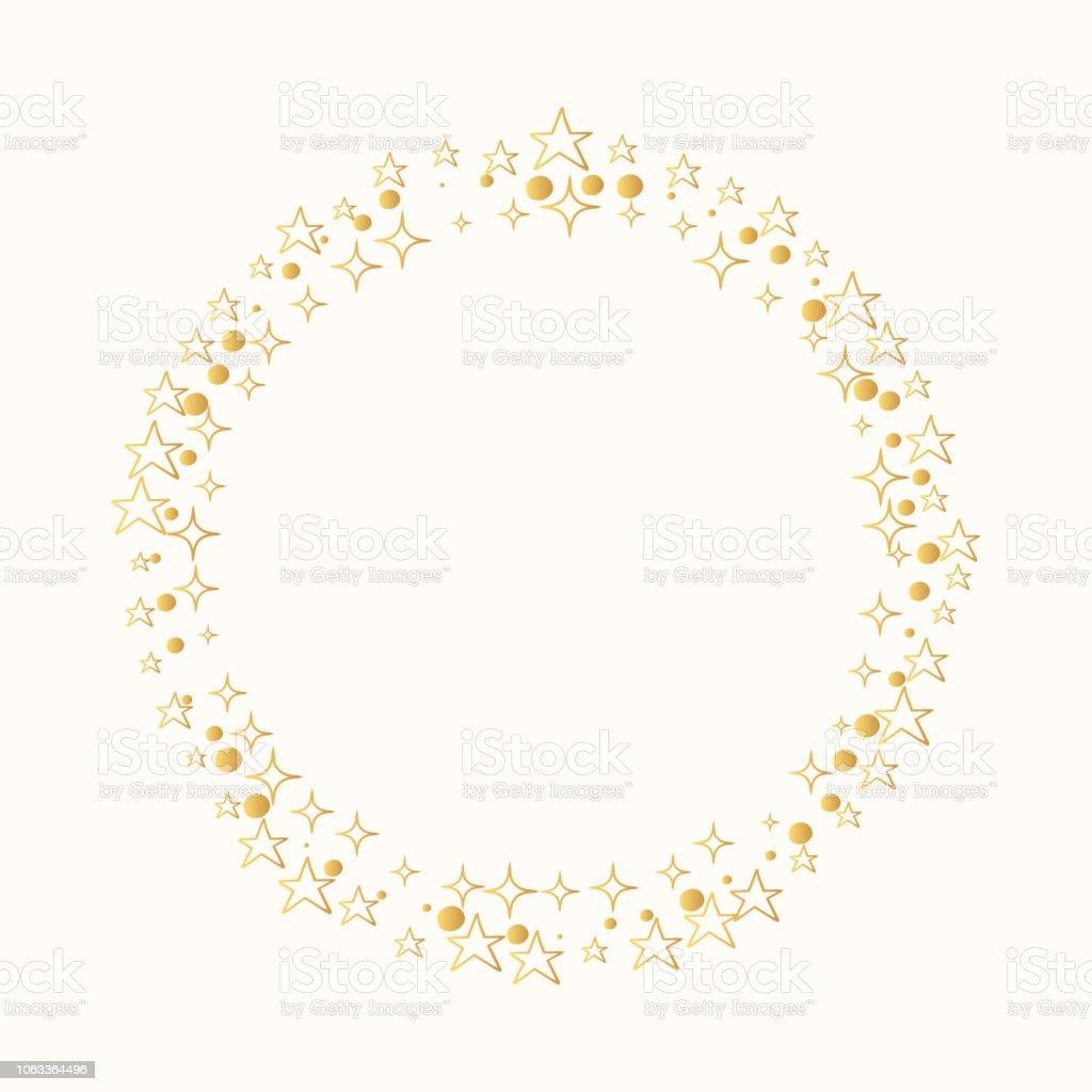 Glitter Sterne Rahmen Vektor Isoliert Hochzeit Dekor