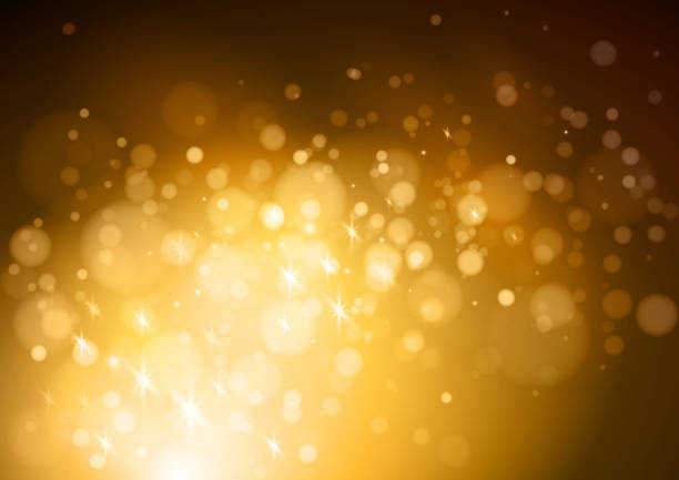 glittering abstract background - bokeh stock illustrations