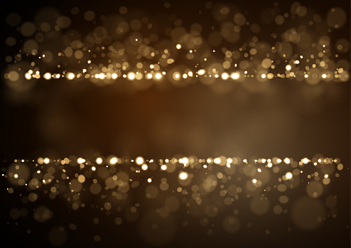 Glittering cold colored sparkling lights on a black background. Vector illustration for use as background template on Christmas designs, cards, flyers, banners, advertising, brochures, posters, digital presentations, slideshows, PowerPoint, websites