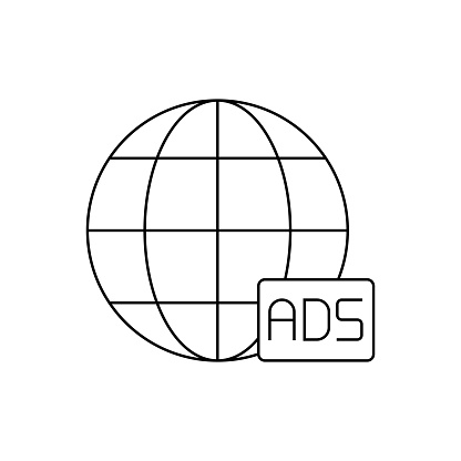 Global Advertising Line Icon