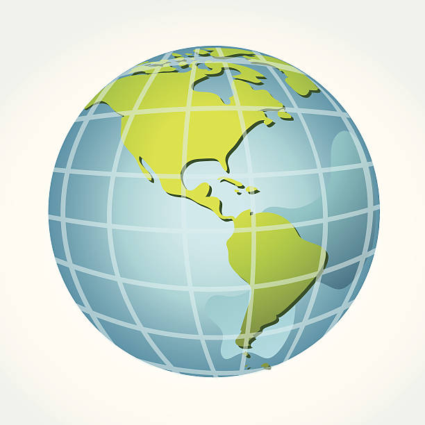 Global, America Global, Vector illustration of Global map in Continent view. equator stock illustrations