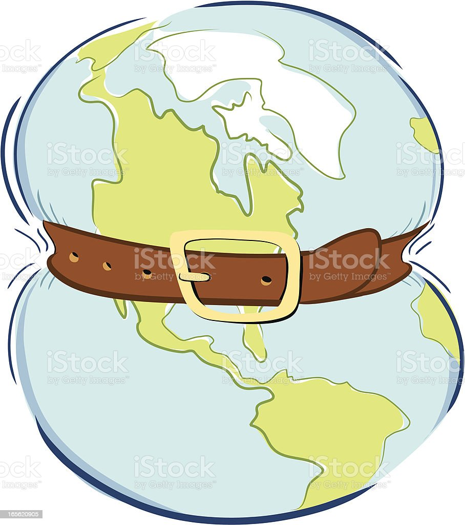 Global Belt Tightening royalty-free stock vector art
