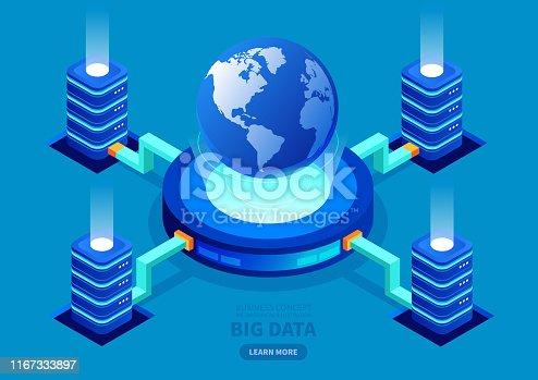 Global big data network server.