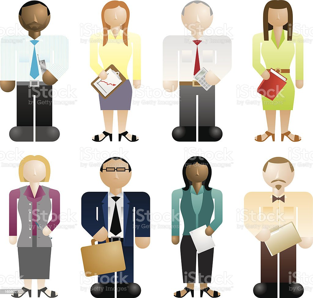 Global business design with colorful faceless human figures royalty-free stock vector art