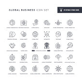 29 Global Business Icons - Editable Stroke - Easy to edit and customize - You can easily customize the stroke with