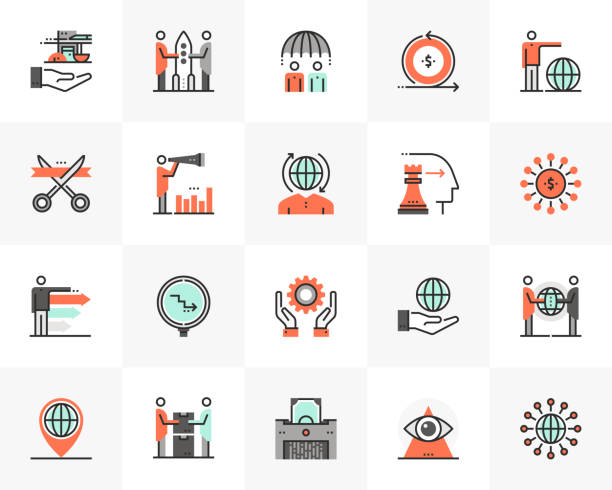 Global Business Futuro Next Icons Pack vector art illustration