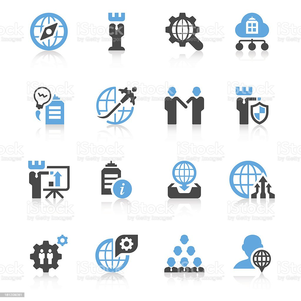 Global Business Icon Set | Concise Series royalty-free stock vector art