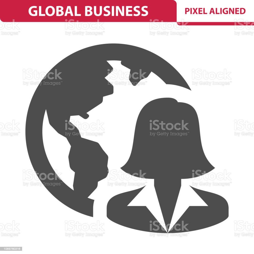Global Business Icon vector art illustration