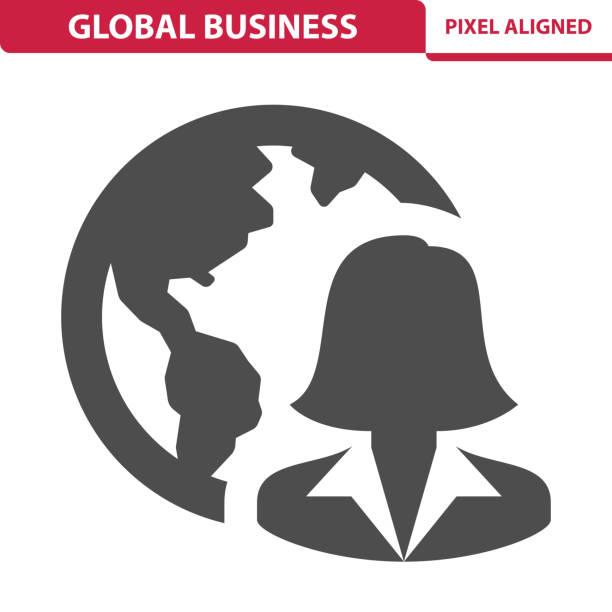 Icône de Global Business - Illustration vectorielle
