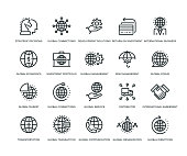 Global Business Icons - Line Series