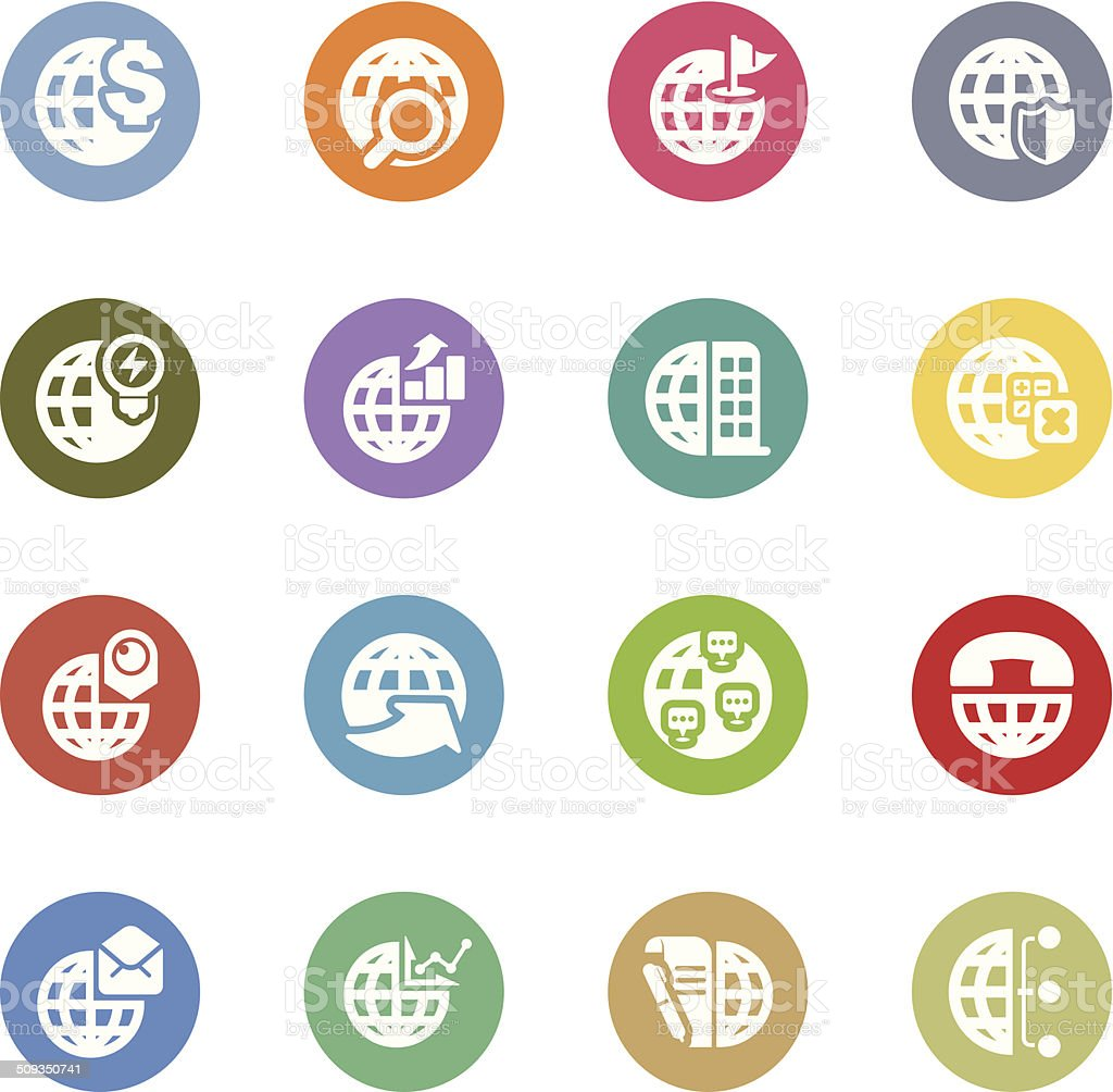 global business icons royalty-free stock vector art