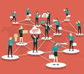 Social network. business connection .global business communication .business teamwork concept