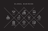 Global Business Line Icons