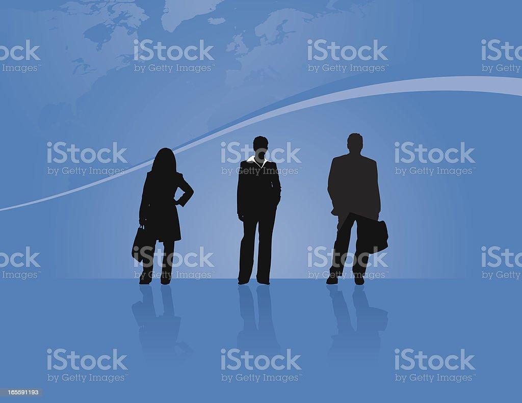 Global Business Team royalty-free stock vector art