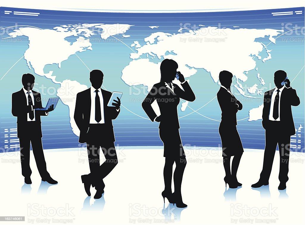 Global business teamwork royalty-free stock vector art