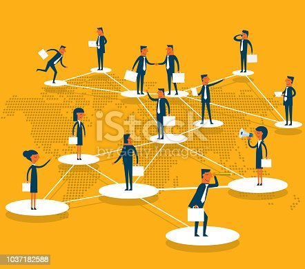 Social network. business connection .global business communication .business teamwork concept