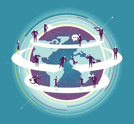Vetores de Negócios Global e mais imagens de Adulto