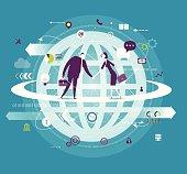 vector illustration - global business