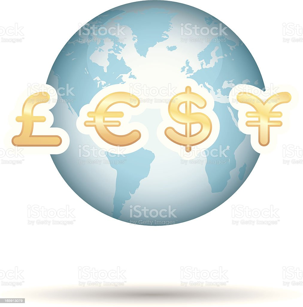 global bussines royalty-free stock vector art