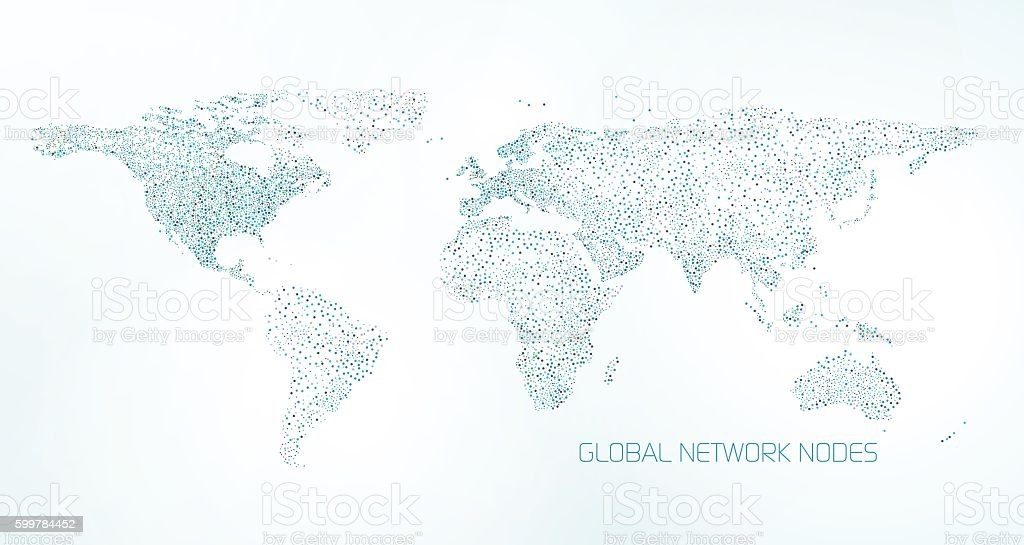 Global Communication Background vector art illustration