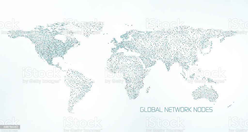 Global Communication arrière-plan - Illustration vectorielle