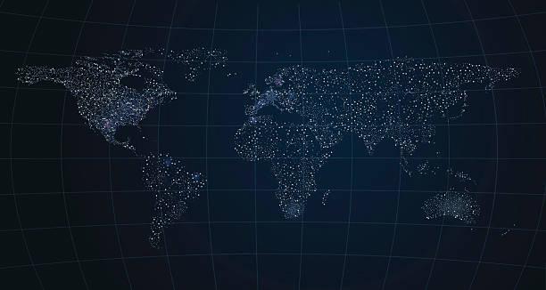 global communication background - acute angle stock illustrations