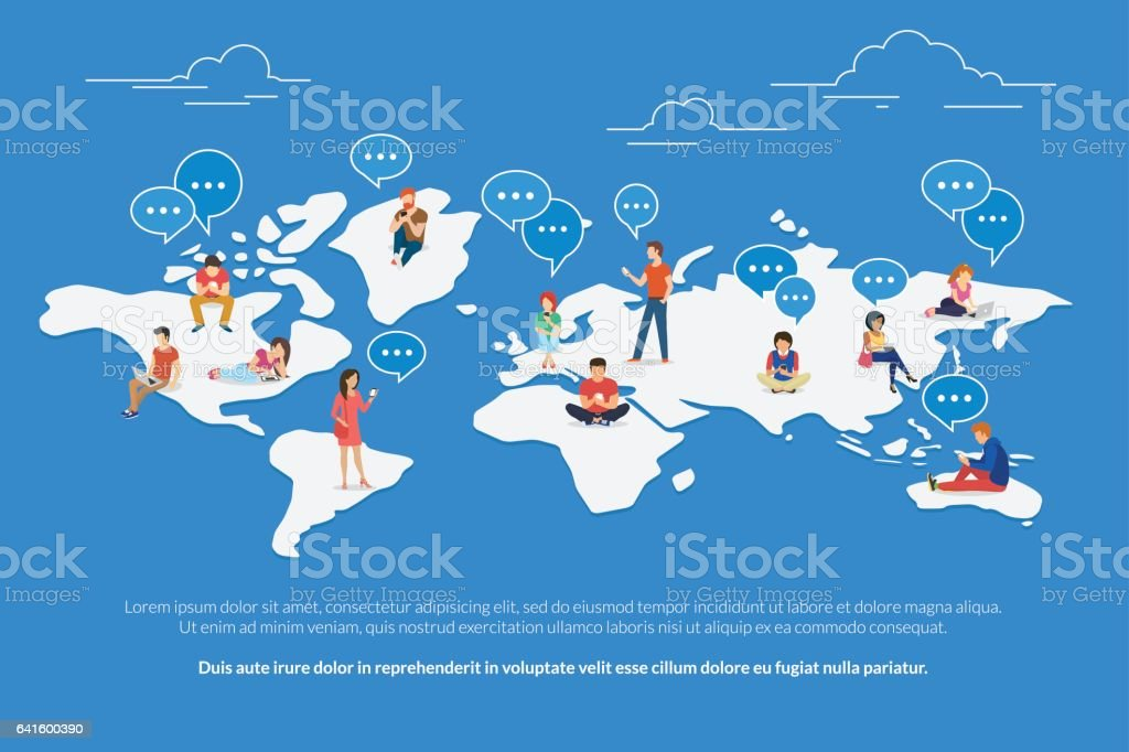 Global communication concept illustration vector art illustration
