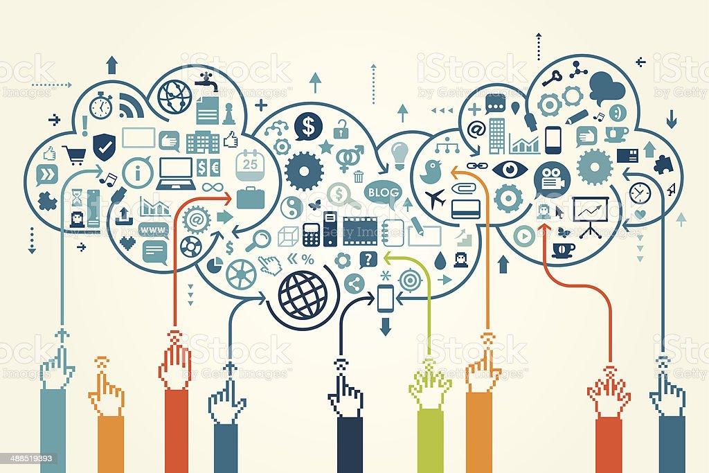Global Communication Concept vector art illustration