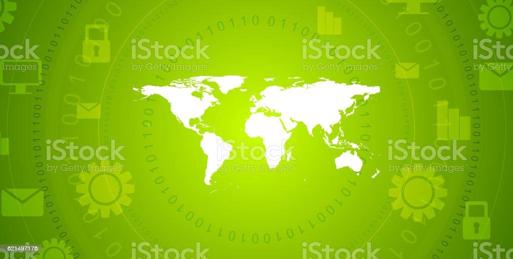 Global communication green tech vector design Lizenzfreies global communication green tech vector design stock vektor art und mehr bilder von abstrakt