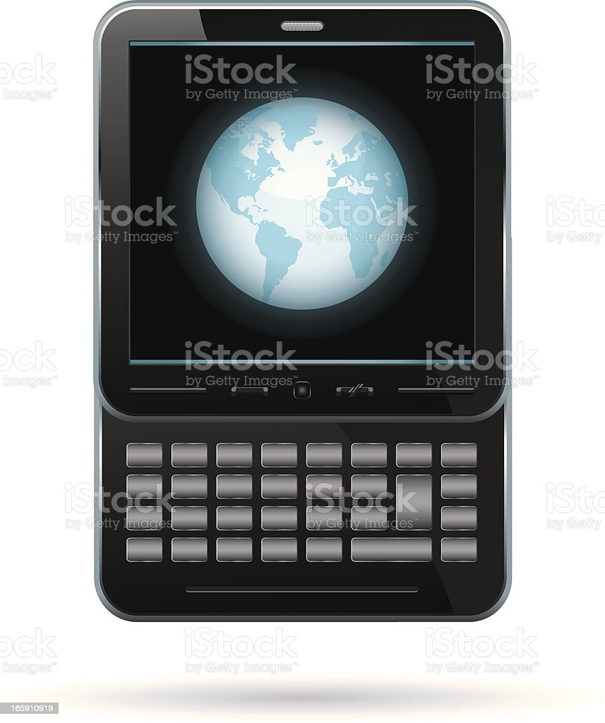 global communication vector art illustration