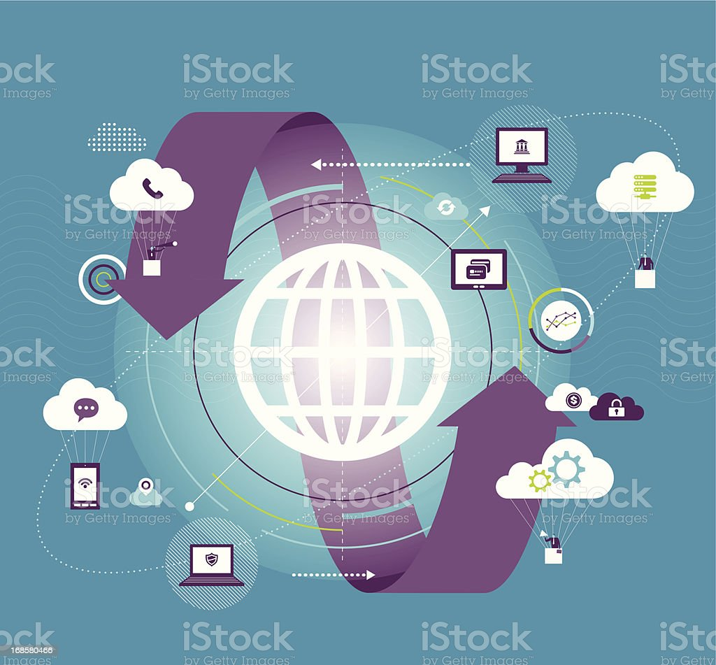 Global communication royalty-free global communication stock vector art & more images of analyzing