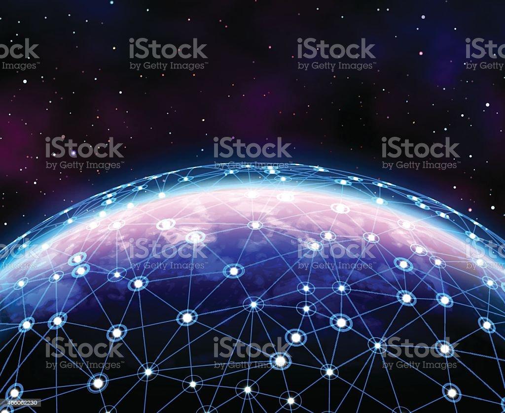 Global Communication vector art illustration