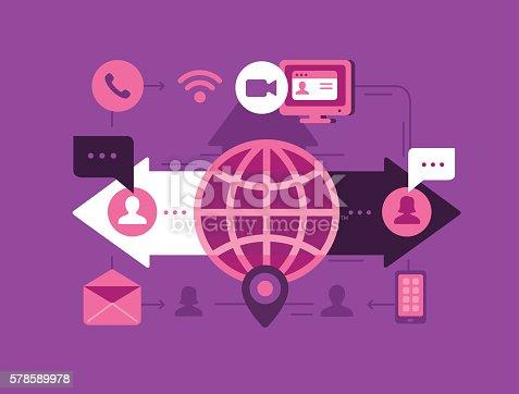 Vector illustration for Communication Concept