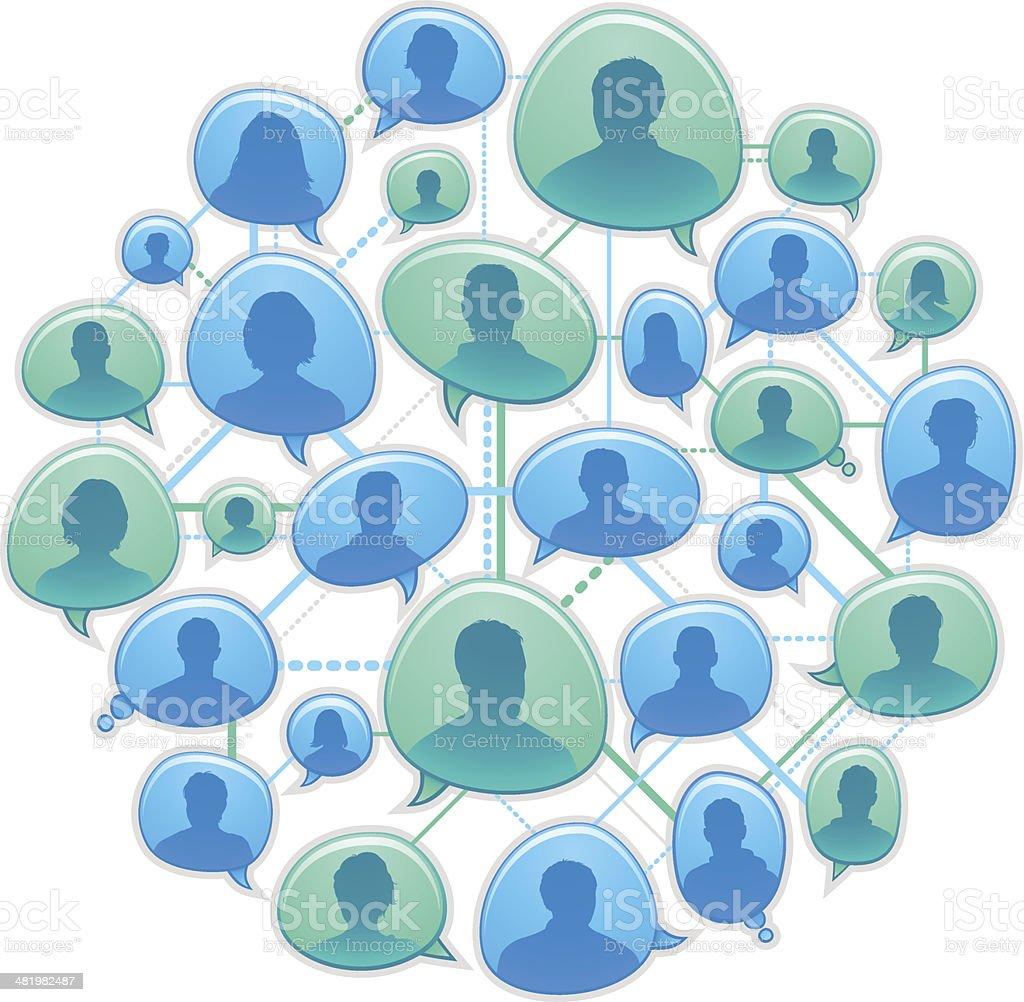 Global communications design vector art illustration