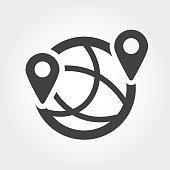 istock Global Communications Icon - Iconic Series 885844208