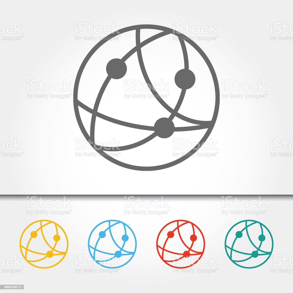 Global Communications Single Icon Vector Illustration vector art illustration