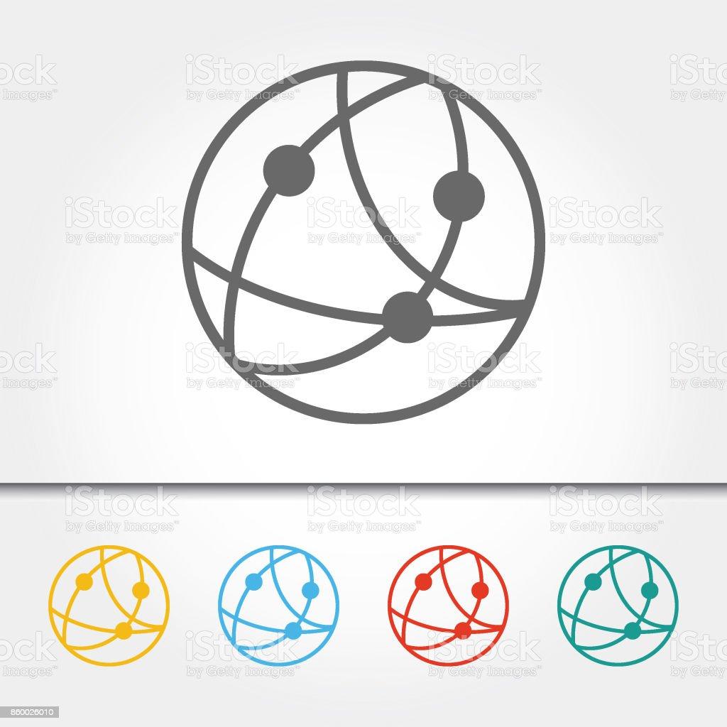 Global Communications Single Icon Vector Illustration vector art illustration