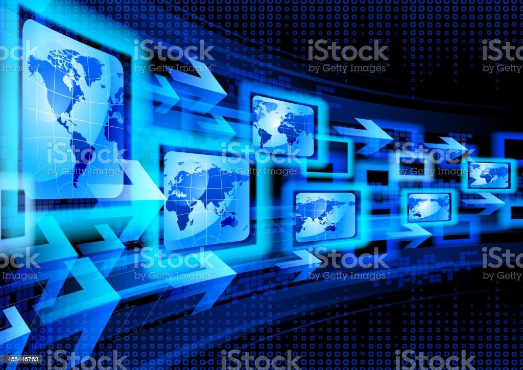 Global Communications vector art illustration