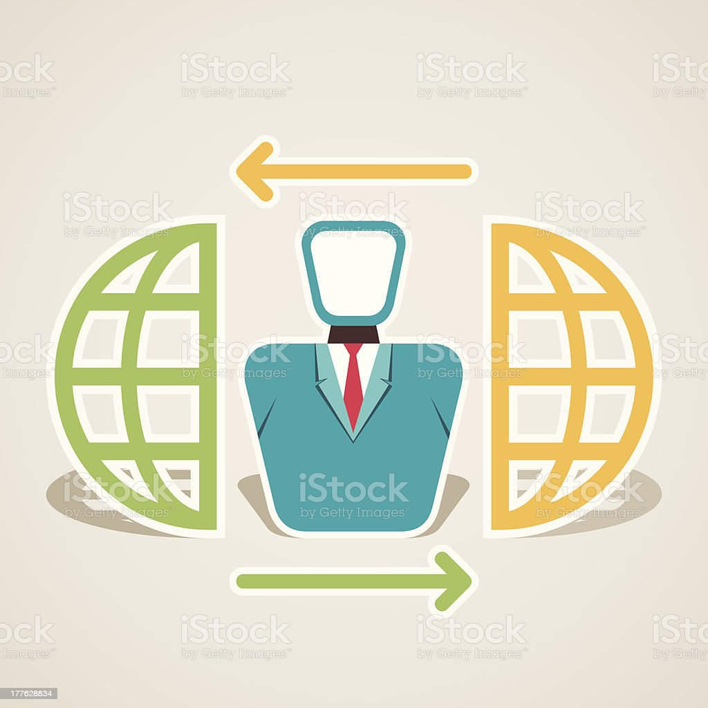 global connection royalty-free stock vector art