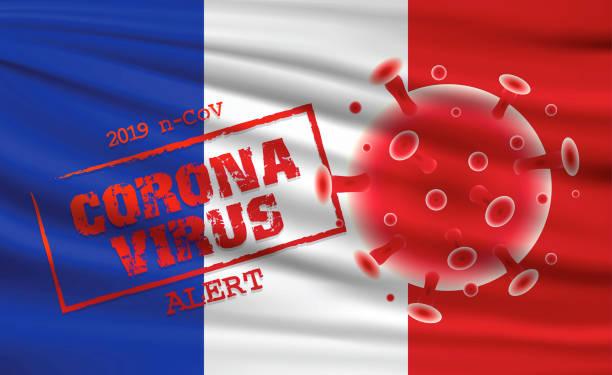 illustrations, cliparts, dessins animés et icônes de alerte mondiale au virus corona - covid france