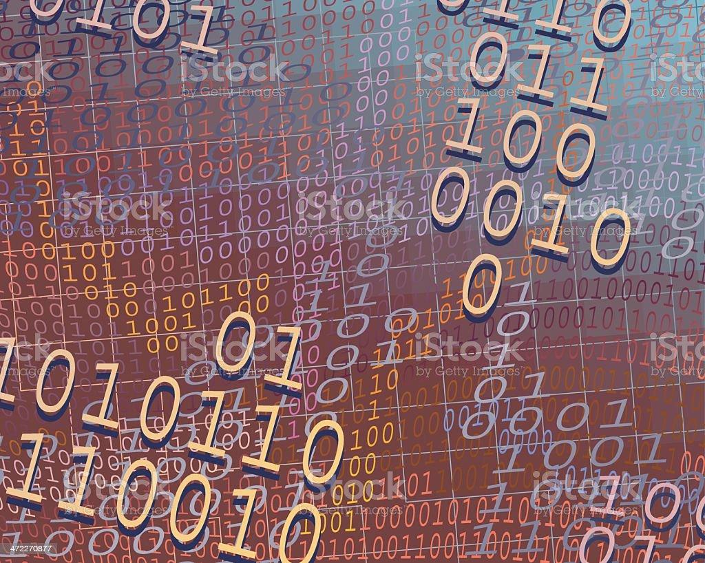 Global Data Network royalty-free stock vector art