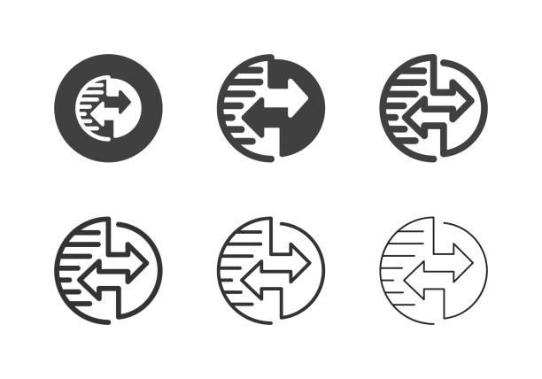 Global Data Transfer Icons - Multi Series vector art illustration