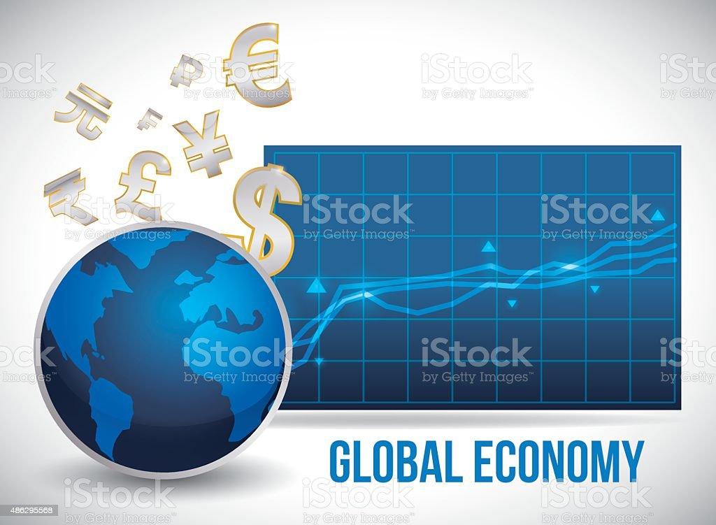 Global economy design. vector art illustration
