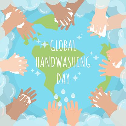 Global handwashing day bubble